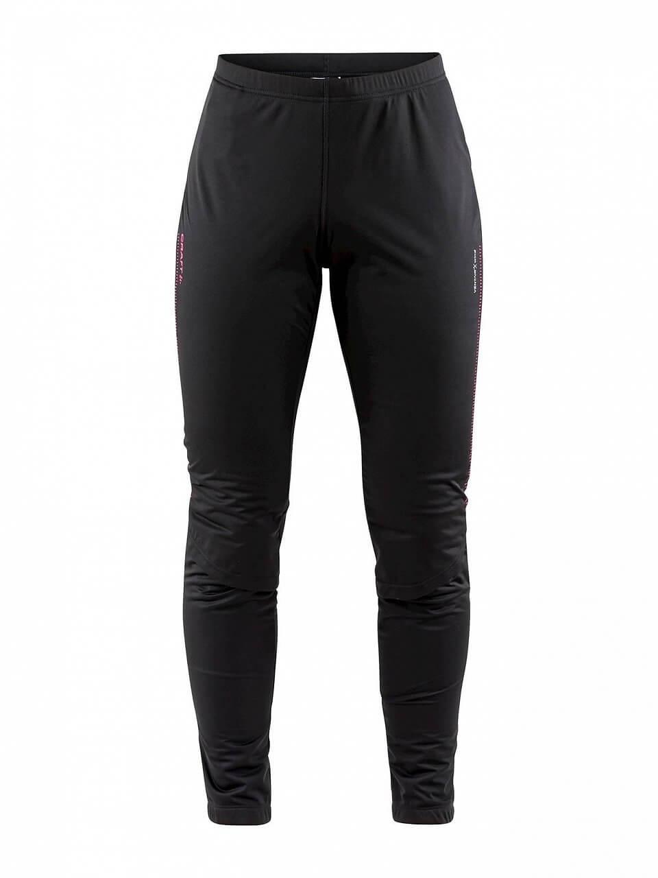 Kalhoty Craft W Kalhoty Storm 2.0 černá s růžovou