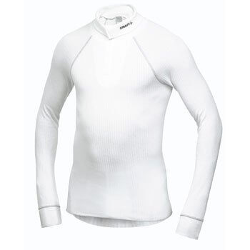 Trička Craft Rolák Active Turtleneck bílá