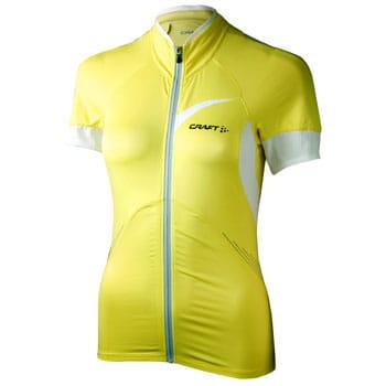 Trička Craft W Cyklodres EB Jersey žlutá