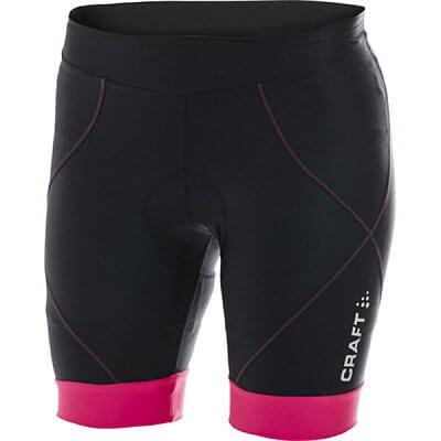 Kraťasy Craft W Cyklokalhoty AB Short černá s růžovou