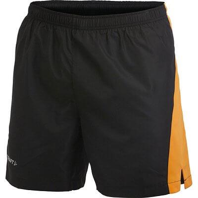 Kraťasy Craft Šortky Prime černá s oranžovou
