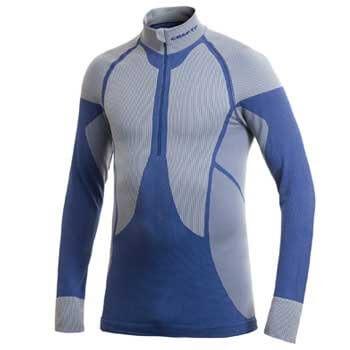 Trička Craft Rolák Warm Zip modrá