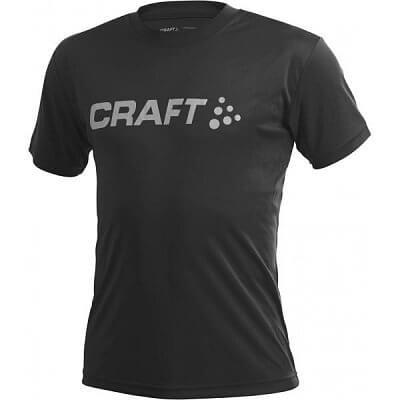 Trička Craft Triko LOGO kr.r. černá