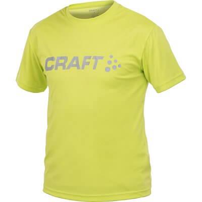 Trička Craft Triko LOGO kr.r. žlutá