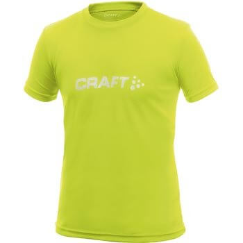 Trička Craft Triko Run Logo žlutá