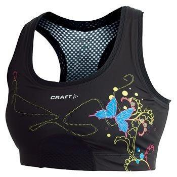 Spodní prádlo Craft Podprsenka Sports Bra černá potisk