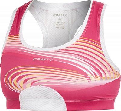 Spodní prádlo Craft Podprsenka Sports Bra růžová potisk