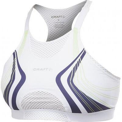 Spodní prádlo Craft Podprsenka Bike Bra bílá potisk