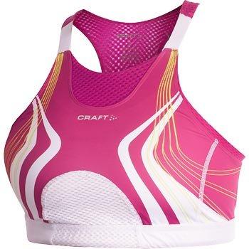 Spodní prádlo Craft Podprsenka Bike Super Bra bílá potisk