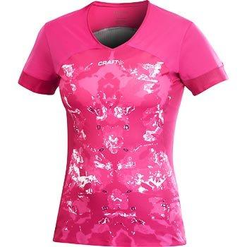 Trička Craft W Triko ER V-neck růžová