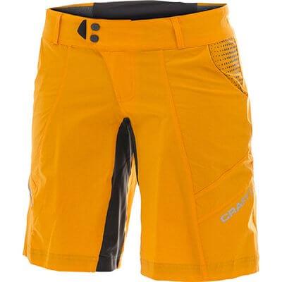 Kraťasy Craft W Cyklokalhoty AB Loose Fit Shorts oranžová