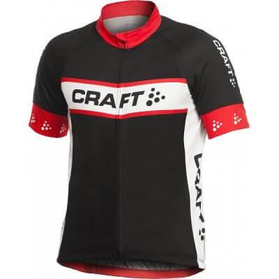 Trička Craft Cyklodres AB Logo černá s červenou
