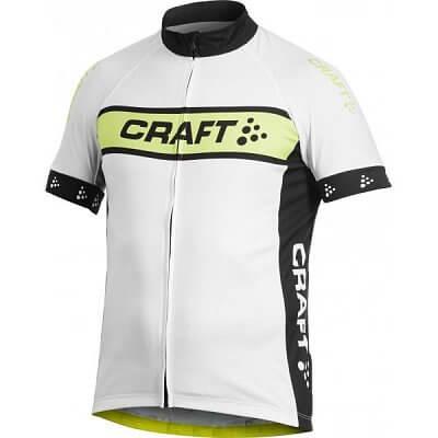 Trička Craft Cyklodres AB Logo bílá se žlutou