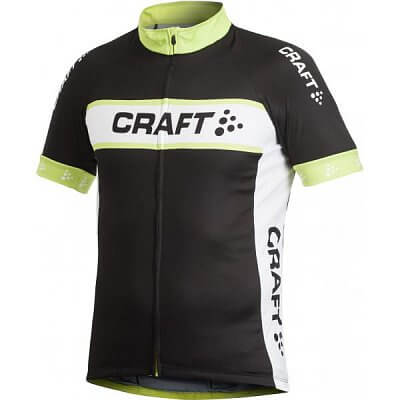 Trička Craft Cyklodres AB Logo černá se žlutou
