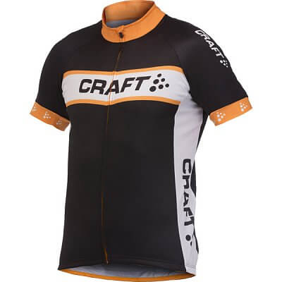 Trička Craft Cyklodres AB Logo černá s oranžovou