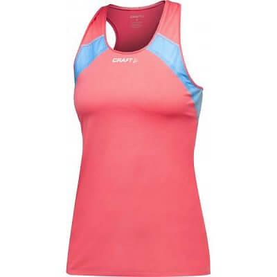 Trička Craft W Nátělník ER růžová s modrou