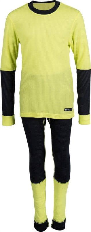 Spodní prádlo Craft Set Baselayer Junior žlutá/černá