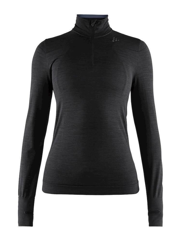 Trička Craft W Triko Fuseknit Comfort Zip černá
