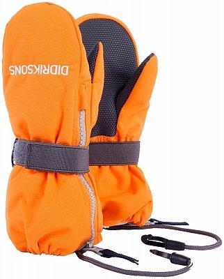 Rukavice Didriksons Rukavice BIGGLES ZIP dětské oranžová