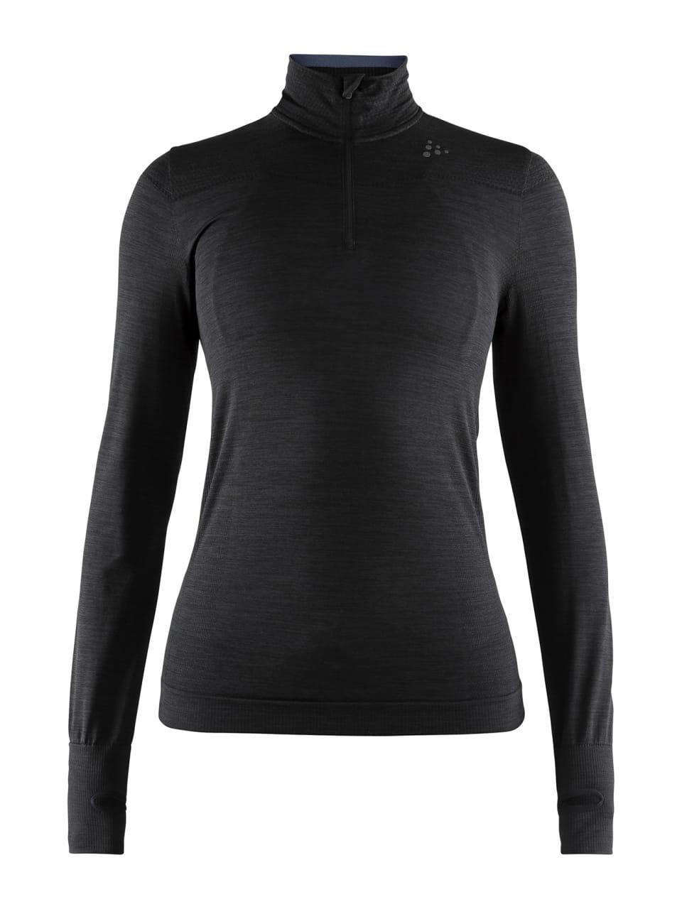 Dámské funkční triko Craft W Triko Fuseknit Comfort Zip černá
