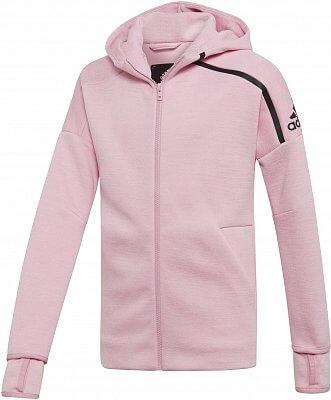 Dievčenské športová mikina adidas Youth Girls ZNE Hoodie feat. Fast Release  Zipper 6f85f59004c