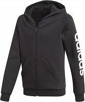 adidas Youth Girls Essentials Linear Full Zip Hoodie