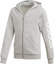 adidas Youth Girls Essentials Linear Full Zip Hoodie