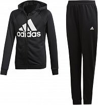 adidas Youth Girls Hooded Polyester Tracksuit