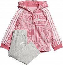 adidas Infant Graphic Full Zip Hooded Jogger Fleece