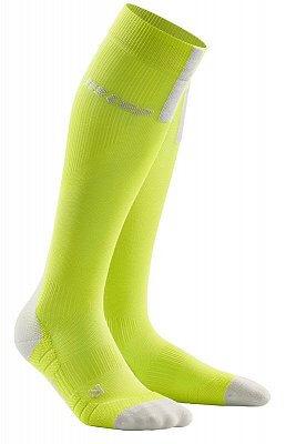 Ponožky CEP Běžecké podkolenky 3.0 pánské limetková / světle šedá