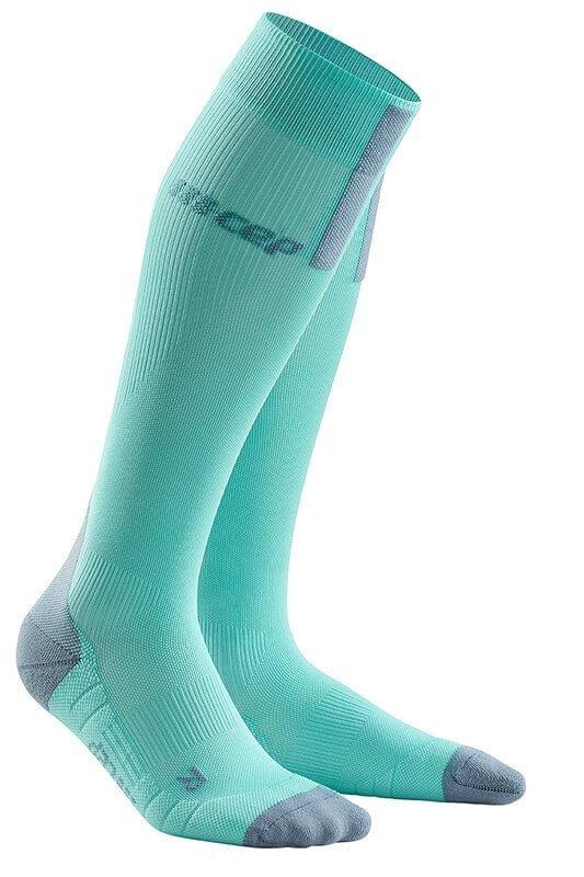 Ponožky CEP Běžecké podkolenky 3.0 dámské ledově modrá / šedá