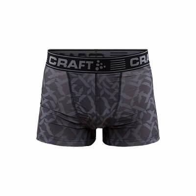 """Spodná bielizeň Craft Boxerky Greatness 3"""" černá s potiskem"""