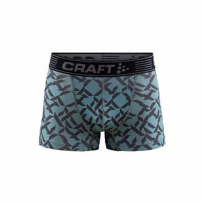 """Spodná bielizeň Craft Boxerky Greatness 3"""" modrá s potiskem"""