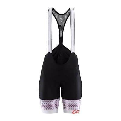 Kalhoty Craft W Cyklokalhoty Empress Bib černá se vzorem
