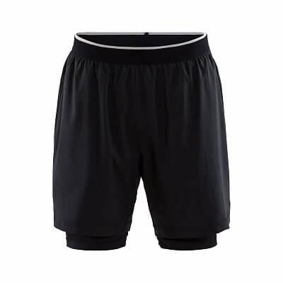 Kalhoty Craft Šortky Charge 2 v 1 černá