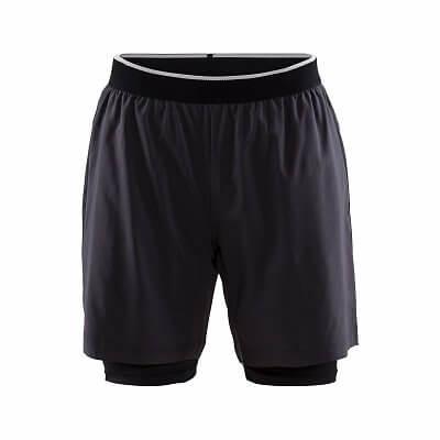 Kalhoty Craft Šortky Charge 2 v 1 tmavě šedá