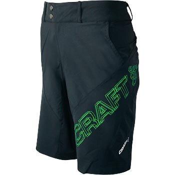 Kraťasy Craft Cyklokalhoty AB Loose Fit černo zelené