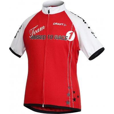 Trička Craft Cyklodres JR Bike červená