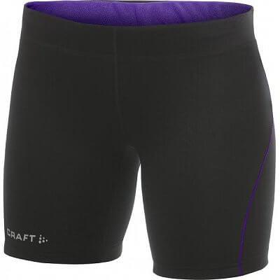 Kraťasy Craft W Kalhoty AR Fitness černá s fialovou