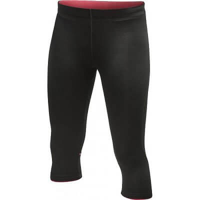 Craft W Kalhoty AR Capri černá s růžovou