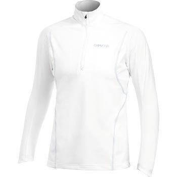 Mikiny Craft W Rolák Lightweight Stretch Pullover bílá