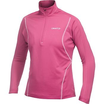 Mikiny Craft W Rolák Lightweight Stretch Pullover růžová