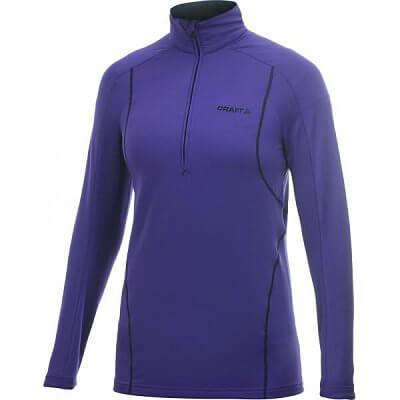 Mikiny Craft W Rolák Lightweight Stretch Pullover fialová
