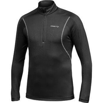 Mikiny Craft Rolák Lightweight Stretch Pullover černá s bílou