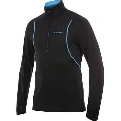 Mikiny Craft Rolák Lightweight Stretch Pullover černá s modrou
