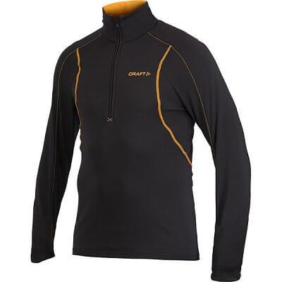 Mikiny Craft Rolák Lightweight Stretch Pullover černá s oranžovou