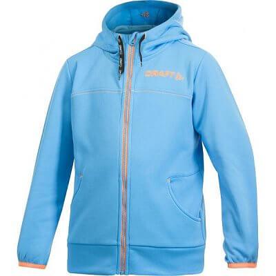 Mikiny Craft Mikina Flex Hood Zip JR modrá