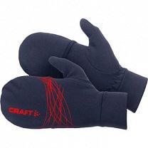 Craft Rukavice Running HYBRID prstové rukavice s překrytím tmavě modrá