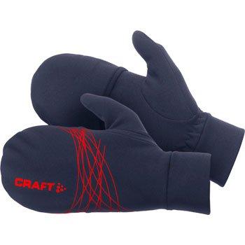 Rukavice Craft Rukavice Running HYBRID prstové rukavice s překrytím tmavě modrá