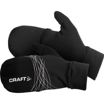 Rukavice Craft Rukavice Running HYBRID prstové rukavice s překrytím černá